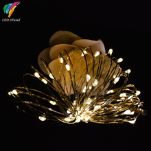 Timer Mode 5M 50Led Mini Silver Color Copper Wire String Lights lamp Decoration For Christmas Wedding Party Halloween Day