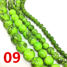 Light Charm Jewelry-Making-Accessory Loose-Spacer Beads-Pattern Glass DIY Green Chic