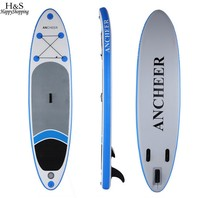 new 10ft Inflatable Stand Up Paddle Board iSUP with Adjustable Paddle Backpack surf board 305* 76 *15cm load 110kg