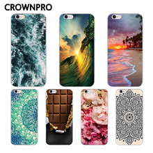CROWNPRO Soft Silicone Cases FOR iPhone 6 6S 5 5s SE 7 Plus 8 / 8 plus X Case Painted Soft TPU Protective Phone Back Covers