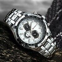 CURREN Men Watches Top Brand Luxury Men Military Wrist Watches Full Steel Men Sports Quartz Watch