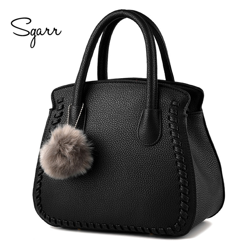 SGARR Brand Women Handbags Luxury Designer Shoulder Bag Female PU Leather Handbag Women Black Bucket Bags Ladies Messenger Bags sgarr fashion pu leather casual tote bag famous brands small women embroidery handbag shoulder bags luxury female crossbody bag