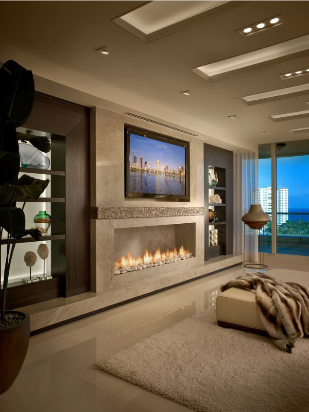 On Sale 62 Inch Interior Fireplaces With Ethanol Burner