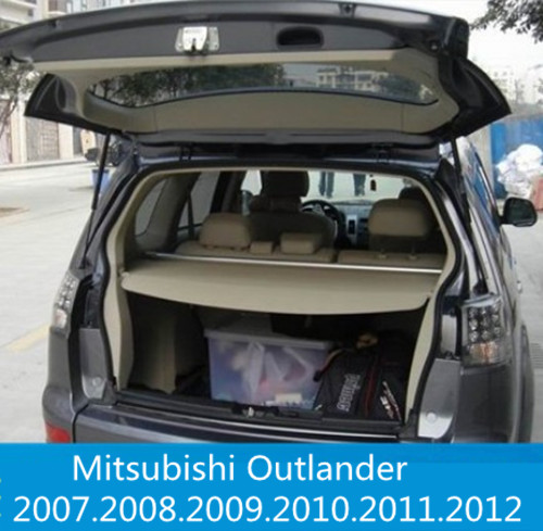 Car Rear Trunk Security Shield Cargo Cover For Mitsubishi Outlander 2007 2008 2009 2010 2011 2012 High Qualit Auto Accessories car auto accessories rear trunk trim tail door trim for subaru xv 2009 2010 2011 2012 2013 2014 abs chrome 1pc per set