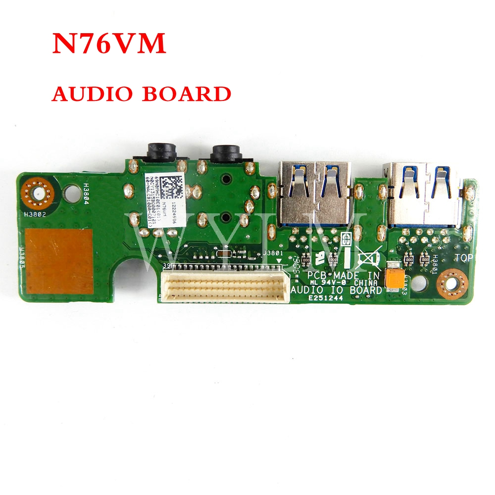 N76VM AUDIO BOARD For ASUS N76V N76VM N76VZ N76VB N76VJ Laptop <font><b>Motherboard</b></font> Audio <font><b>USB</b></font> <font><b>3.0</b></font> IO Board Interface Board image