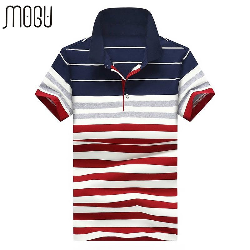 MOGU Stripe Male   Polo   Shirt Fashion Slim Fit Men Brand   Polo   2017 Summer New High Quality   Polos   Asian Size 4XL Men's   Polo   Shirt