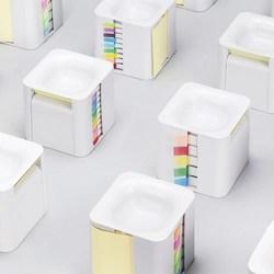 Office Supplies Desk Accessories Stationery Organizer Scratch Sticker Holder Tape Dispenser Memo Cube Box