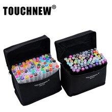 Купить 30/40/60/80 студент Дизайн Цвета Touchnew маркером маркеров Краски маркер Выделите ручка красочные краски ing выделяя