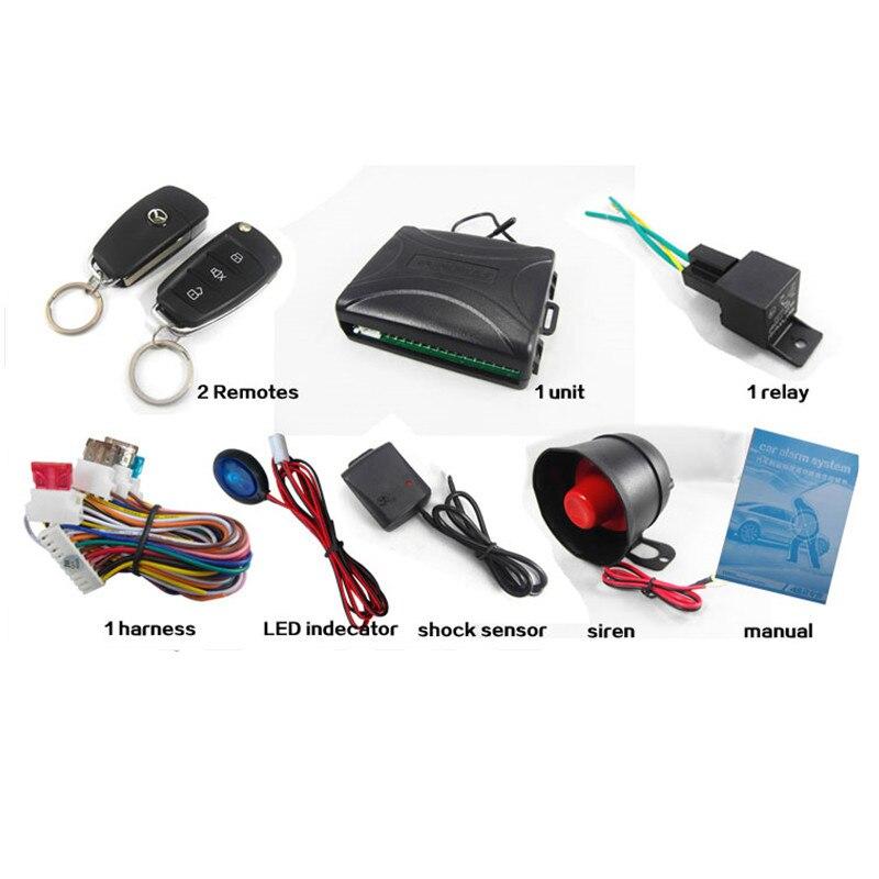 2018 alarme de voiture One Way télécommande sirène capteur Auto systèmes d'alarme de voiture et clé de sécurité de verrouillage de porte centrale pour Toyota