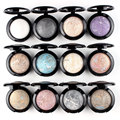 2pcs Single Baked Eye Shadow Powder Makeup Palette in Shimmer Metallic Glitter Cream Eyeshadow Palette By