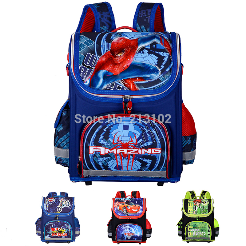 New Children School Bags For Boys Orthopedic Waterproof Backpacks ...
