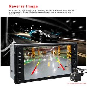 "Image 4 - AMPrime 7 ""רכב רדיו אודיו רדיו 2din מסך מגע מולטימדיה לרכב Bluetooth MirrorLink אנדרואיד/IOS FM/AUX אחורי מצלמה MP5 נגן"