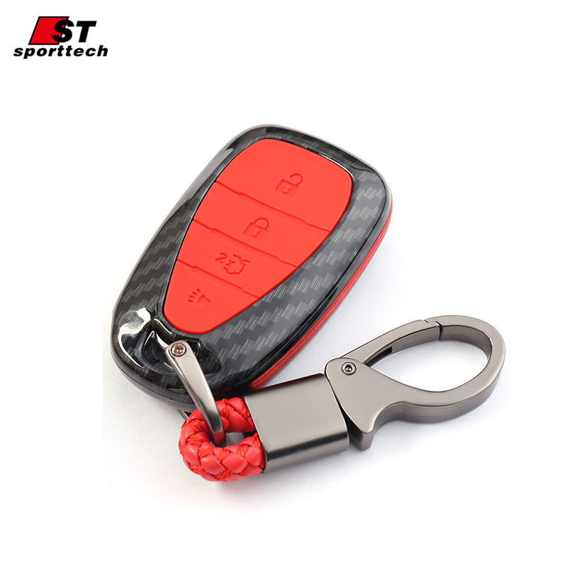 Car Styling Keychain For Chevrolet Equinox/Malibu XL/Cruze/Trax Key Ring Case Cover For Chevrolet Car Key Bag Holder Accessories