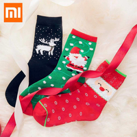 Original 3 Pairs Xiaomi Mijia Christmas Couple Socks Cotton Sock Warm Absorb Sweat Socks For Men