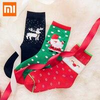 Original 3 Pairs Xiaomi Mijia Christmas Couple Socks Cotton Sock Warm Absorb Sweat Socks For Men