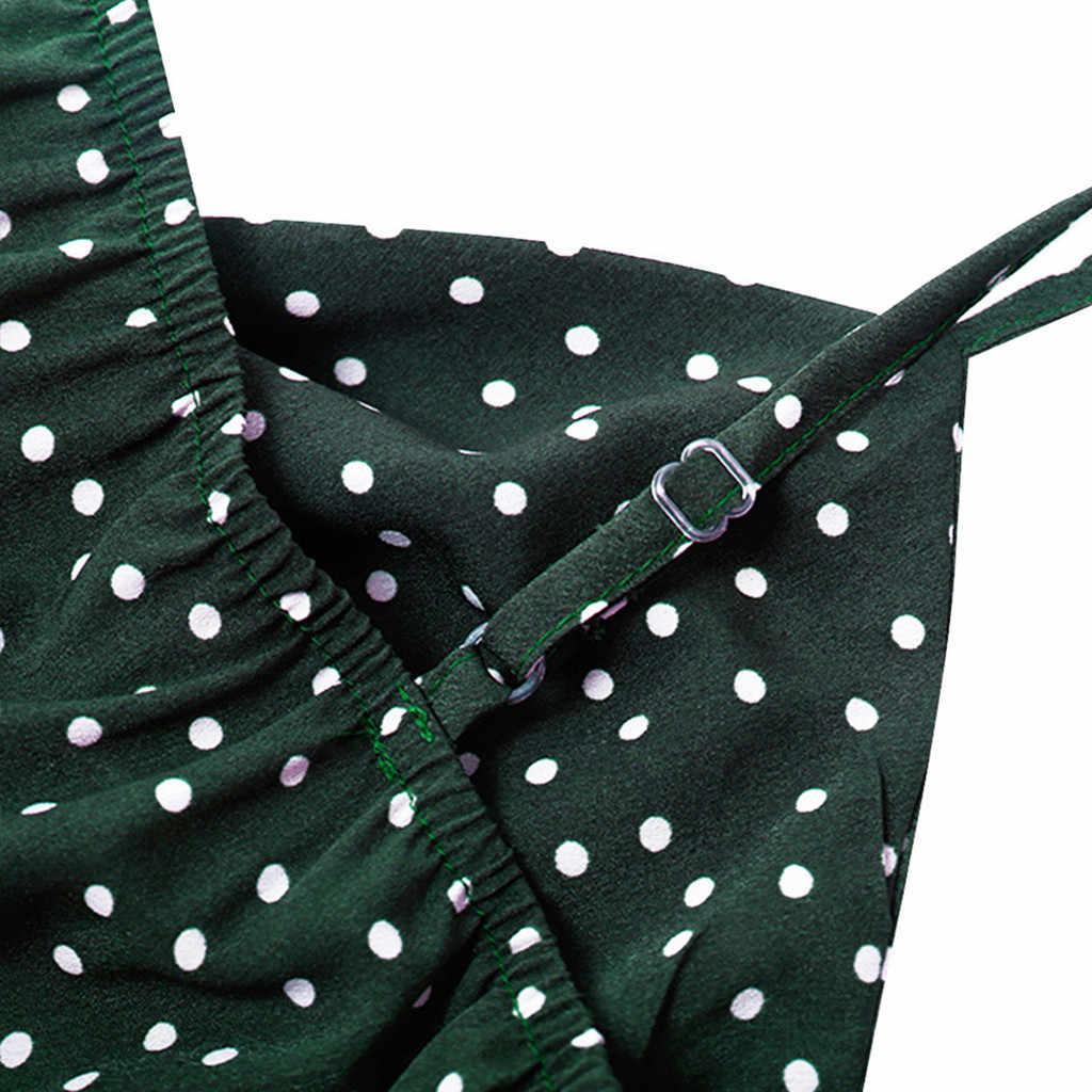 Polka Dot Playsuits Shorts Weibliche Sommer Overalls Strampler Urlaub Onesies Frauen Breite Bein Kurze Hosen Overall Ärmel Camis