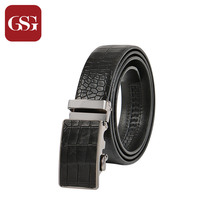 GSG Men Brand Belt Automatic Buckle Wide Jeans Leather Belt for Man Black Brown Long Casual Embossed Crocodile Belt 110 115 120
