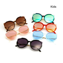 2018 New Cat eye Fashion sunglasses for kids Baby girls&boys 3-7years old Summer eye glasses UV400 Protect eye gafas de sol N149