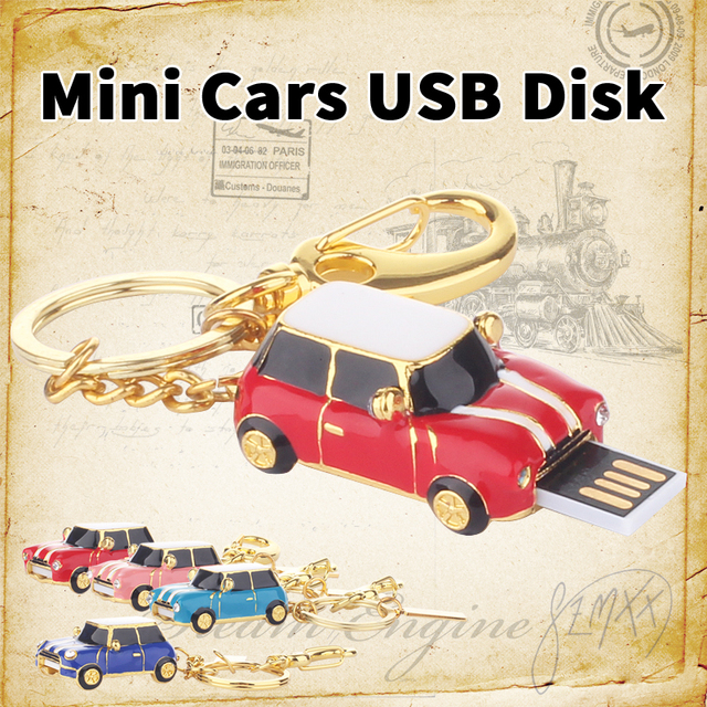 usb flash drive Mini Cooper car pen drive 32gb 16gb pendrive usb stick Real usb 2.0 memory stick Flash Card Free Shipping