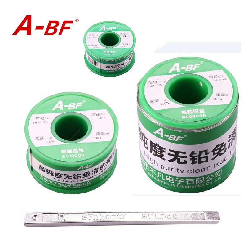 A-BF Lead Free Core Solder Wire Sn99.3 Cu0.7 soldering iron melting solder soldering pot solder bar 50g 100g 500g choices ms 80 lead free digital soldering pot environment friendly solder pot