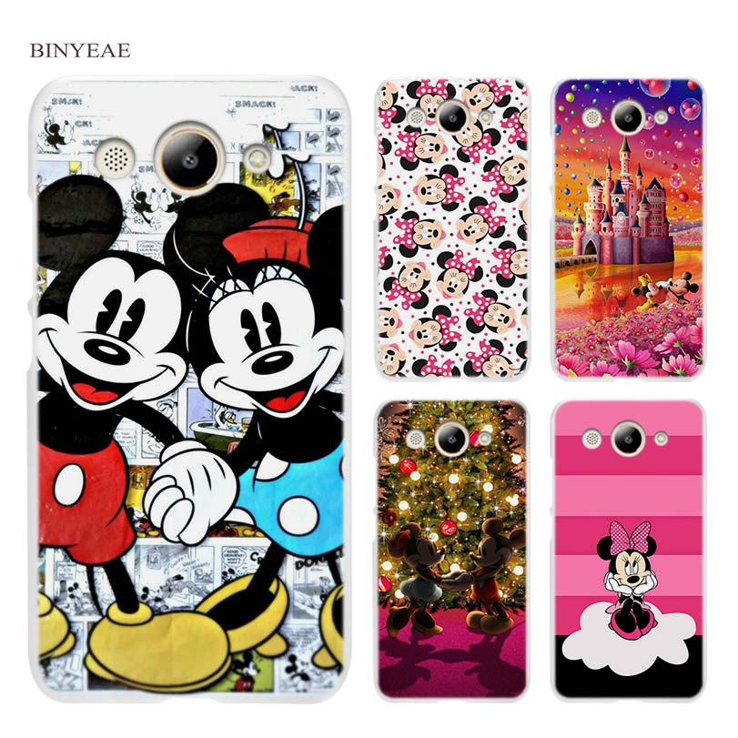 BINYEAE Minnie mouse Hard Transparent Case Cover Coque Shell for Huawei Y3 Y5 Y6 II 2017 Pro