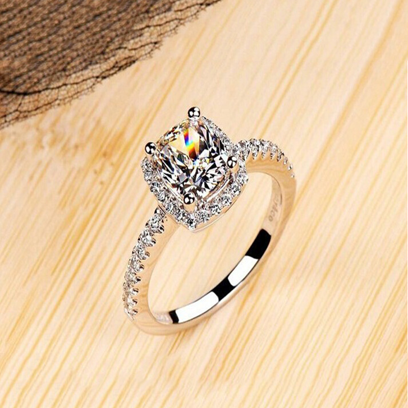 ZN Fashion Rings Show Elegant Temperament Jewelry Womens Girls White Silver Filled Wedding Ring 8