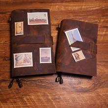 Nieuwe Handgemaakte Notebook Lederen Travel Case Journal Cover Notebook Riem Stijl 5 Kleur Schoolbenodigdheden Vintage Notebooks