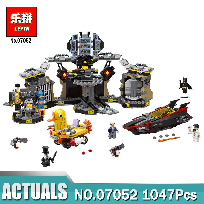 Lepin Batman 07052 Genuine Movie Series Compatible with legoe 70909 The Batcave Break-in Building Blocks Bricks Toys for child hc9009 1650pcs pikachu cartoon movie series without original box building blocks diamond bricks toys compatible with loz