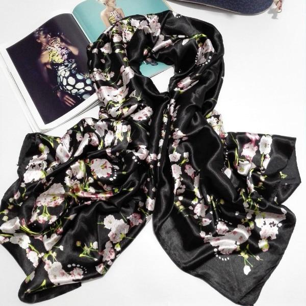 e17dcecbbbbf  Peacesky  2016 Mode bandana De Luxe Scarve Femme Marque 100% Soie Écharpe  Papillon Impression Femmes Châle Impression hijab