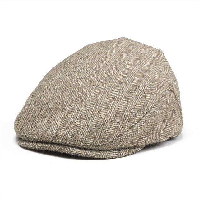 7cc9c6c87 US $14.24 5% OFF|JANGOUL Kids Flat Cap Herringbone Woolen Tweed Small Size  Boy Girl Newsboy Caps Infant Toddler Child Youth Beret Hat 002 -in Newsboy  ...