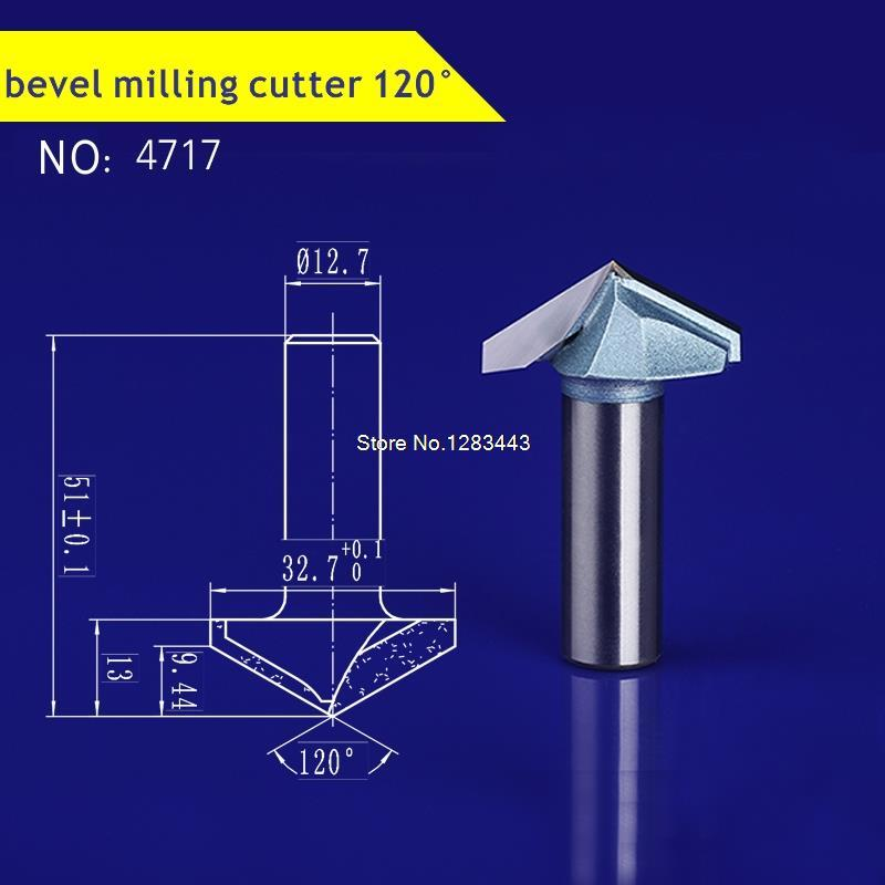 1pcs 12.7*32.7*9.4mm V-groove slotting knife woodworking fluting milling cutter,Door and cabinet decorative knife 4717  цены
