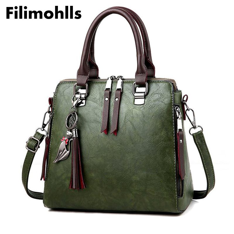 Women Handbag Famous Brand PU Leather Lady Handbags Luxury Shoulder Bag Large Capacity Crossbody Bags Women Casual Tote Sac F-24 2pcs set pu leather women handbags famous brand star tassel women bags large capacity tote bag luxury elegant handbag leather