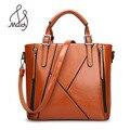 Restoring Ancient Ways Fashion Patchwork Designer Split Office Ladies Bags Women Handbag Brand High Quality Shoulder Bag Tote
