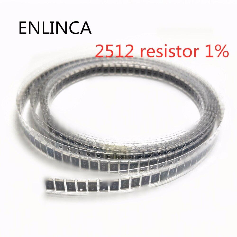 50 шт./лот, пленочный резистор 2512 SMD, фиксированный резистор 1% 1 Вт 2 Вт 0,1r 0,01r 0,05r 0,001r 0,33r 1R 0R 10R 100R 1K Ом