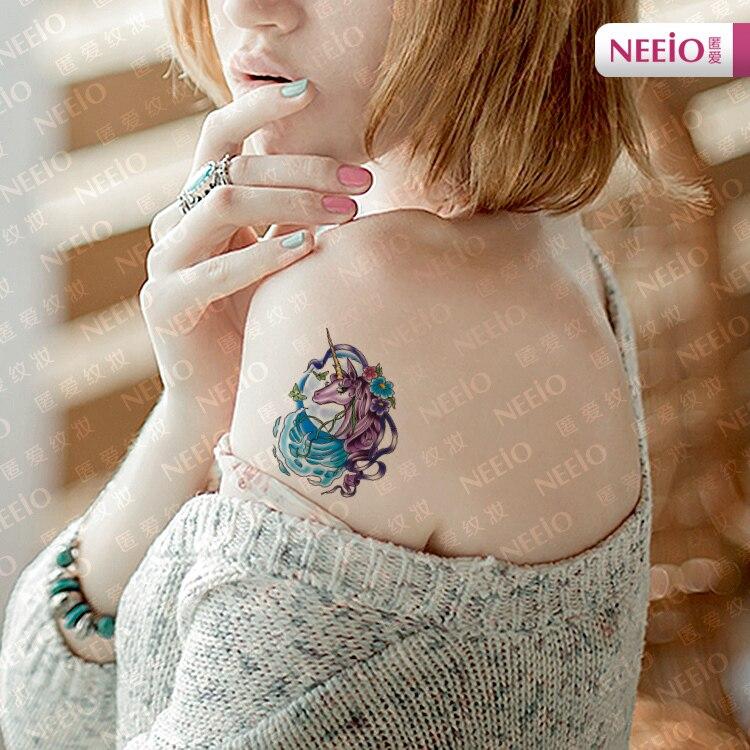 Leemin Tatuaje Temporal Pegatinas Mágico Unicornio Color Brazo