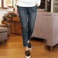 Осенняя Мода xl-5XL Высокой Талией джинсы Высокой Упругой плюс размер Женские Джинсы женщина случайные узкие брюки Джинсовые брюки