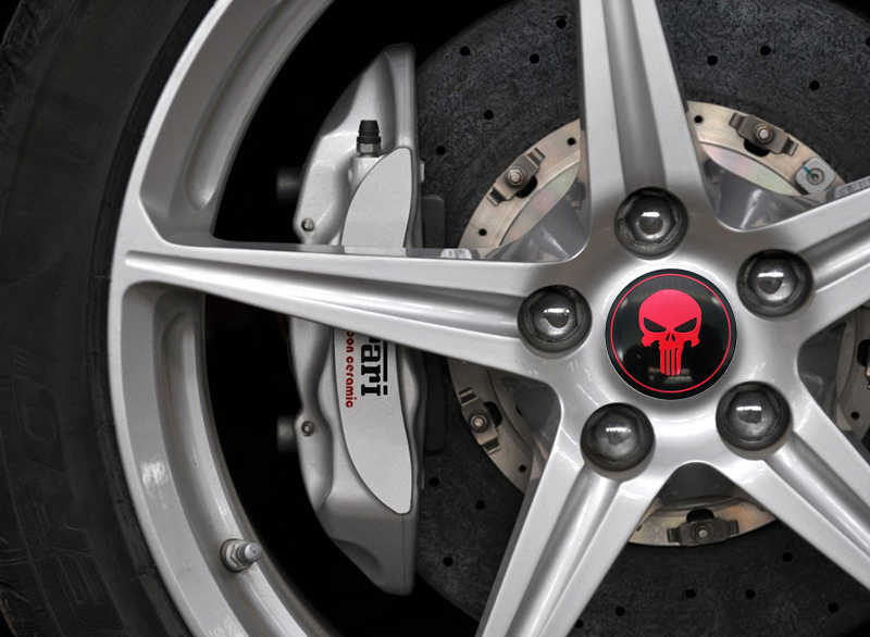 Cool 3D crâne voiture volant roue Center voiture autocollant moyeu capuchon emblème Badge autocollant symbole pour Opel Renault Mazda BMW AUDI Ford