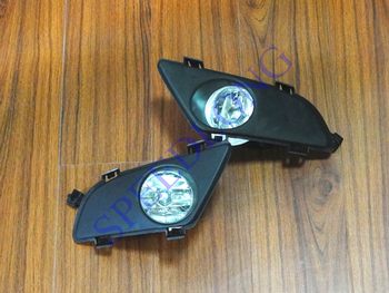 2 Pcs/Pair RH and LH Bumper driving fog light lamps+covers bezel for Mazda 6 2003-2005