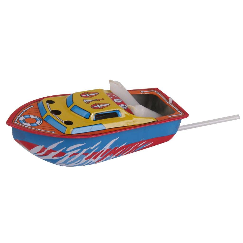 1 pc グッズキャンドル駆動スチームボートブリキのおもちゃヴィンテージスタイルフローティングポップボート水のおもちゃ子供ノベルティギフト