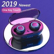 цены TWS 5.0 Wireless Headphones Bluetooth Earphones Sports Bluetooth Headset Handsfree Earbuds Stereo Ear Buds In Ear For Phones