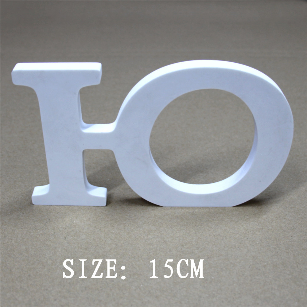 Newest 15cm Wood Wooden White Russian Letters Alphabet & Numbers Crafts For Home Decor Birthday Wedding Decorations