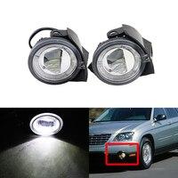 Direct Fit For Chrysler Pacifica Sebring For Dodge Stratus Sedan E4 CE Auto Led Car Front Fog Light W/ White DRL Halo Rings Kit