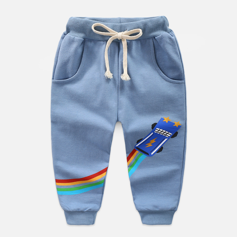Kids Pants Baby Boys Sport Autumn Winter Children Clothing Cotton Long Trousers 2-8year