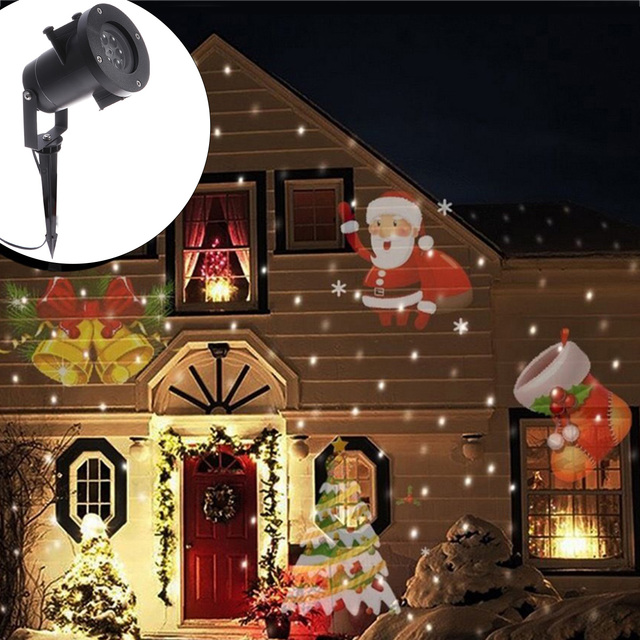 Projection Projector Light Laser Outdoor Spotlight Lamp For Christmas Holiday Party Landscape Garden Decor 12 Patterns