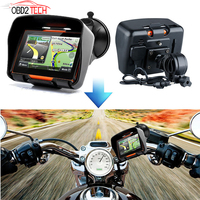 4.3inch 256M RAM 8GB Flash Waterproof Motorcycle GPS Bluetooth Navigator SAT NAV Touch Screen Motobike GPS Navigation With Maps
