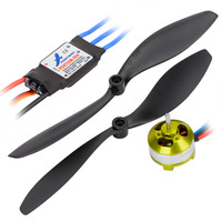 HOBBYMATE Rc Airplane Power Combo Motor And ESC 30A Program Card Props Plugs ParkFlyer