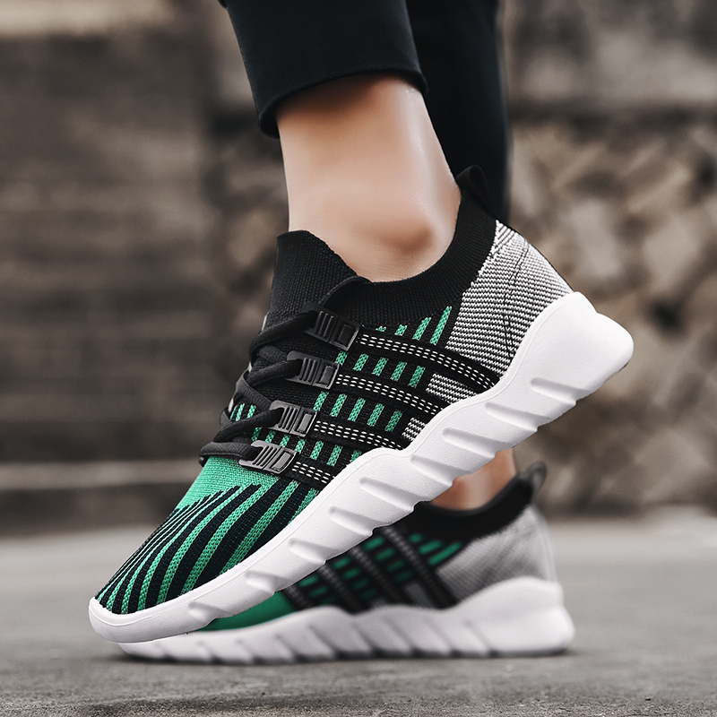 2018 Big Size Men summer Running Shoes Outdoor Breathable Jogging Sport blade Shoes For Mens krasovki Walking GREEN Sneakers