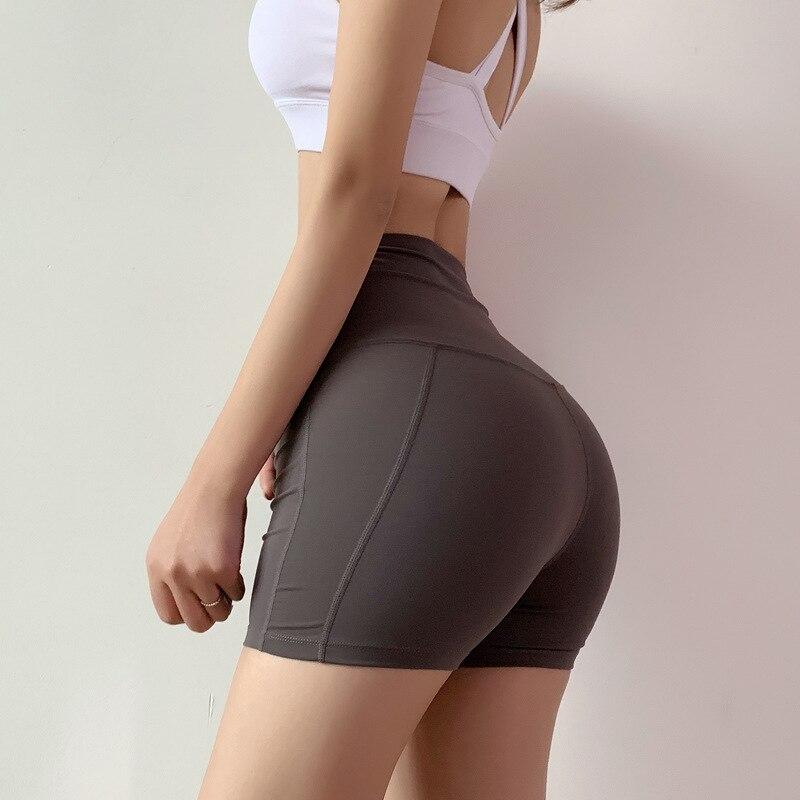 @1  Женские шорты упругие талии короткие фитнес-зал йога шорты спортивные повседневные тренажерный зал й ✔