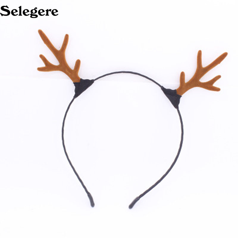 Reindeer Antler Hair Hoop Christmas Girl Headband Headwear for Children Christmas Costume Party Decoration