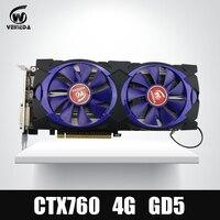 비디오 카드 Veineda 그래픽 카드 GTX 760 4 그램 Gddr5256 비트 DVI HDMI InstantKill GTX 1050, GTX950 엔비디아